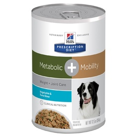 Hills Prescription Diet Canine Metabolic + Mobility Dog Food 12 x 354g cans