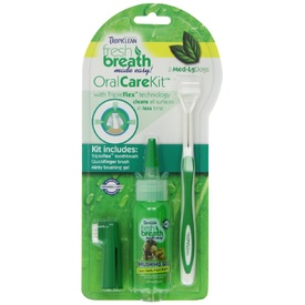 Tropiclean Oral Care Kit with Toothbrush for Small Dogs