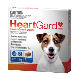 Heartgard 30 Plus Chews for Small Dogs Up to 11kg Blue (6s)