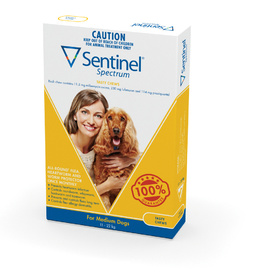 Sentinel Spectrum - Medium Dogs 12-22kg - 6pk (Yellow)