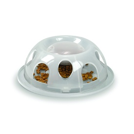 Smartcat Tiger Interactive Plastic Slow Food Bowl for Cats - Clear