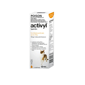 Activyl Spot-On Flea Control for Small Cats Up to 4kg - Orange (Single Dose)