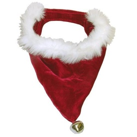 Outward Hound Fluffy Christmas Dog Bandanna with Bells - Small