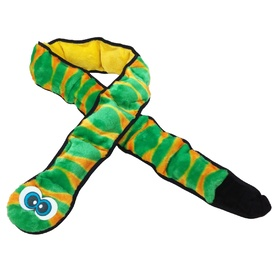 Invincibles Ginormous Squeaker Snake Dog Toy