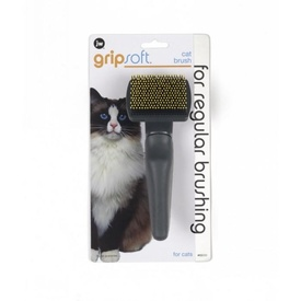 GripSoft Cat Brush with Easy Grip Handle