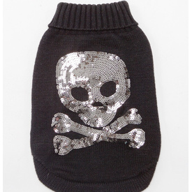 Sequinned Skull Wool Jumper by Sasha & Me