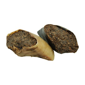 Natural Dried Cow Hoof filled with Dried Kangaroo Mince