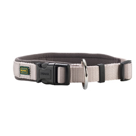 HUNTER Nylon Dog Collar with Padded Neoprene - Grey & Grey