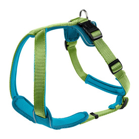 HUNTER Soft Neopren Dog Harness - Green & Petrol