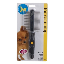 JW Gripsoft Double-Sided Dog Comb