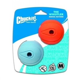 "Chuckit! WHISTLER BALL - MEDIUM 2.5"" (6cm) - 2pk Dog Toy"
