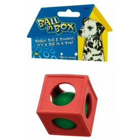 JW Ball in a Box Rubber Dog Toy