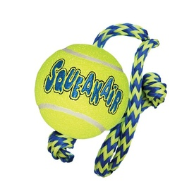 KONG AirDog Squeaker Ball with Rope - Medium