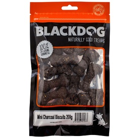 Black Dog Baked Mini Charcoal Dog Biscuits 200g