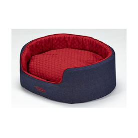 Snooza Buddy Pet Bed - Denim Dog Print