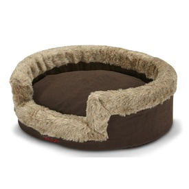 Snooza Buddy Pet Bed - Furry Eskimo Print