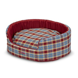 Snooza Buddy Pet Bed - Blue & Red Tartan