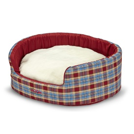 Snooza Buddy Pet Bed - Woolly Red & Blue Tartan