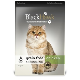 Black Hawk Grain Free Chicken Dry Food for Cats & Kittens