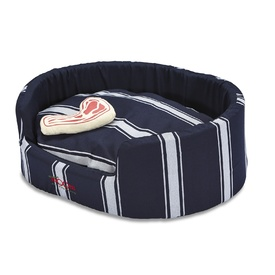Snooza Buddy Pet Bed in Butcher's Stripe - Large