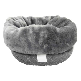 T&S Snug Quilted Bag to Bed for Cats and Dogs - Grey
