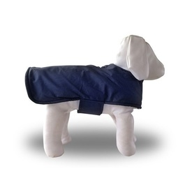 Pampet Waterproof Dog Coat with Sherpa Lining - Navy Blue