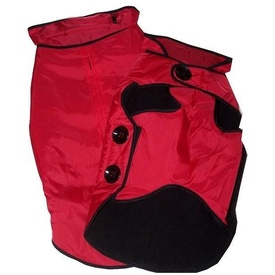 Pampet Zip Hood Waterproof Jacket with Button Features - Red or Black