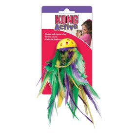 KONG Mega Feather Ball Cat Toy
