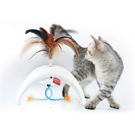 GiGwi Pet Droid Feather Spinner Interactive Cat Toy
