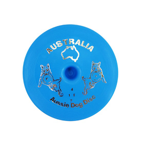 Aussie Dog Flying Disc: Blue Soft Frisbee