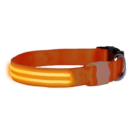 "DogLite ""Double Trouble"" LED Light-up Dog Collar - Orange Sunset"