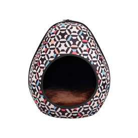 IBIYAYA Gourd Pet House & Enclosed Bed - Honeycomb