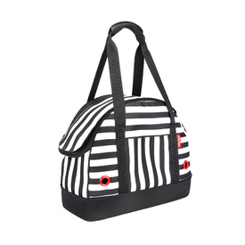 "IBIYAYA ""Hop in!"" Bowling Bag style Pet Carrier - Audrey Monostripe"