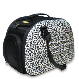 IBIYAYA Classic EVA Collapsible Pet Carrier - Leopard