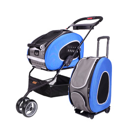 IBIYAYA 5-in-1 Combo EVA Pet Carrier & Stroller - Royal Blue