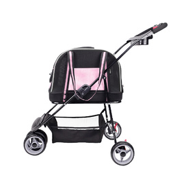 IBIYAYA Double Fun Pet Carrier & Stroller - Love Pink