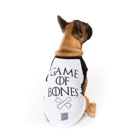 "Fuzzyard ""Game of Bones"" Cotton Dog T-Shirt"