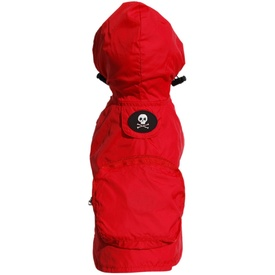 FabDog Waterproof Jacket Rain Coat for Dogs - Red