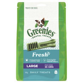 Greenies Dental Chew Treats for Dogs - 340g Treat-Paks - Fresh Mint Flavour!