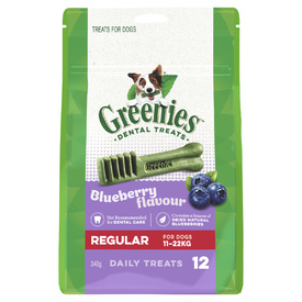 Greenies Dental Chew Treats for Dogs - 340g Treat-Paks - Bursting Blueberry