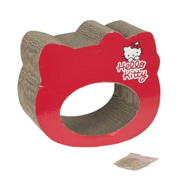 Hello Kitty Scratchtastic Red Cardboard Cat Scratcher with Catnip