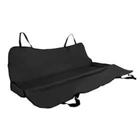 Padded Car Back Seat Protector - Black