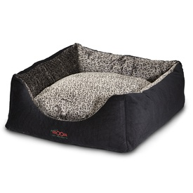 Snooza Jacks Dog Bed in Cord and Polyplush Safari - Size: Large
