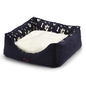 Snooza Jacks Bed 'Woolly Paws 'n' Bones - Navy' Dog Bed