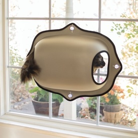 K&H EZ Mount Window Pod & Cat Perch - Tan