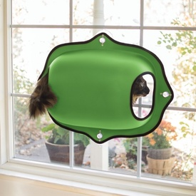 K&H EZ Mount Window Pod & Cat Perch - Green
