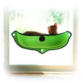 K&H EZ Mount Mod Window Cat Perch Bed - Green