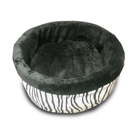 K&H Deluxe Thermo Heated Kitty Bed - Zebra Print - Small