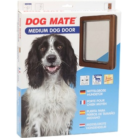 Dog Mate Pet Door - Brown