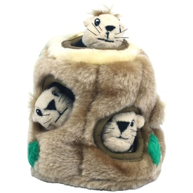 Hide-a-Squirrel Plush Dog Puzzle with Squeaker Squirrels